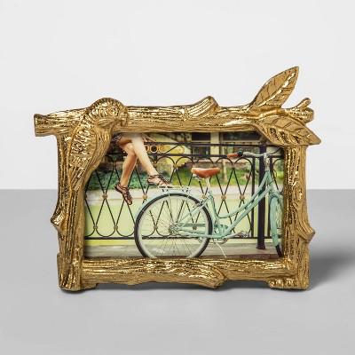 4 X6  Cast Metal Parrot Photo Frame Light Gold - Opalhouse™