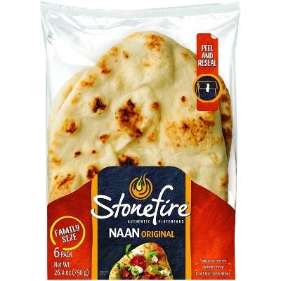 Stonefire Original Naan Family Size - 26.4oz/6ct