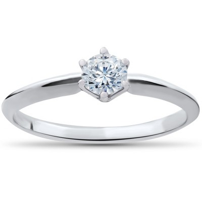 Pompeii3 1/4ct Solitaire Diamond Engagement Ring 14K White Gold