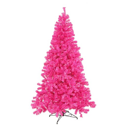 3 ft pre lit artificial christmas tree with plastic tree stand and pink led lights