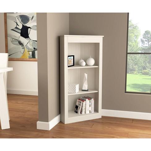 """47.2"""" 3 Level Corner Bookshelf Washed Oak - Inval - image 1 of 4"""