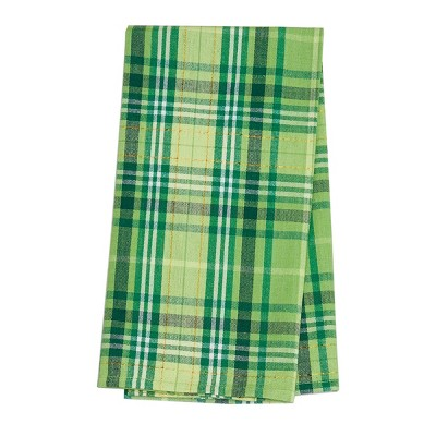 C&F Home Green Conner Plaid St. Patrick's Woven Cotton Kitchen Towel
