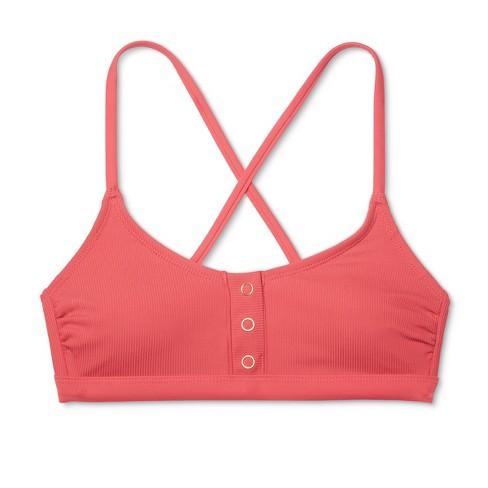64f44f3739 Women s Ribbed Snap Front Bralette Bikini Top - Xhilaration™   Target