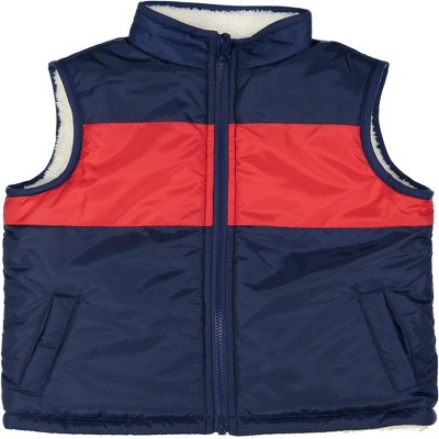 Andy & Evan  Toddler  Color Blocked Reversible Puffer Vest