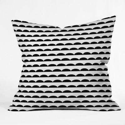 Black/White Stripe Throw Pillow - Deny Designs