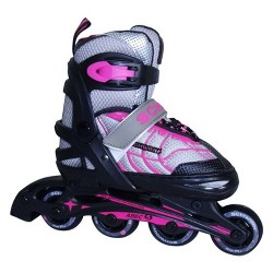 Schwinn Girls' Adjustable Inline Skate - Black/Pink 1-4