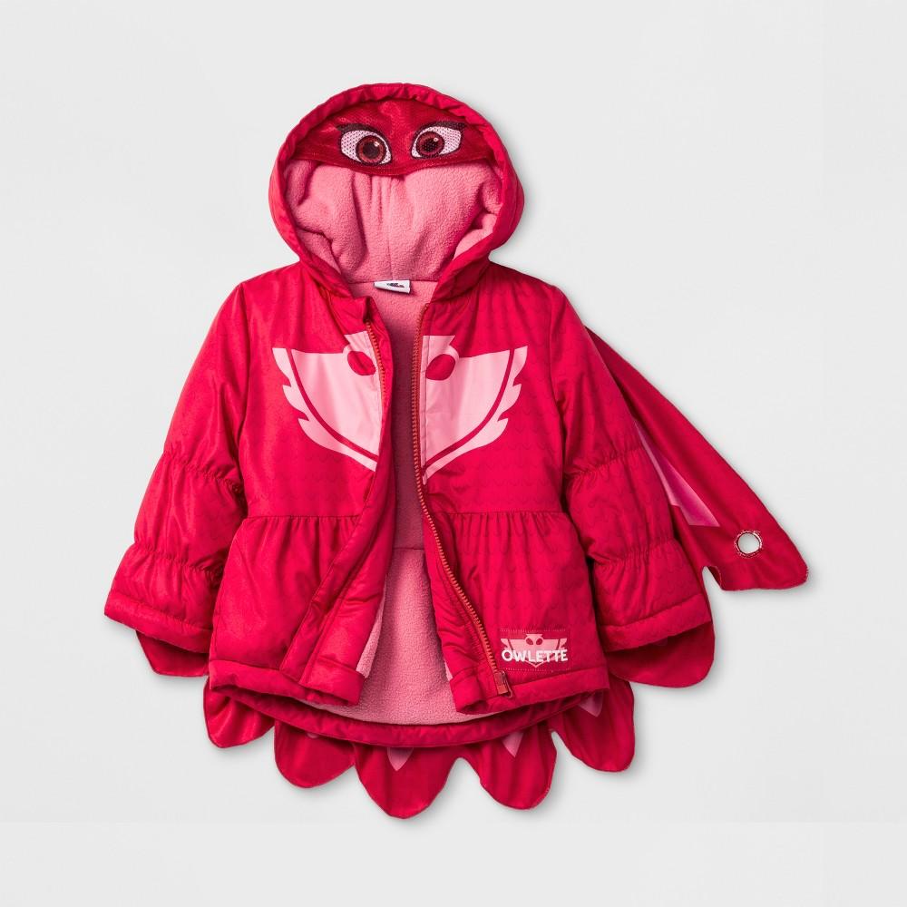 Toddler Girls' PJ Masks Owlette Puffer Jacket - Pink 5T