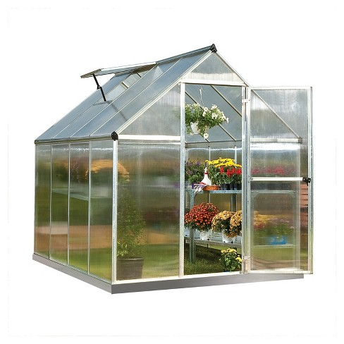 6' x 8' x 7' Nature Greenhouse - Silver - Palram - image 1 of 8
