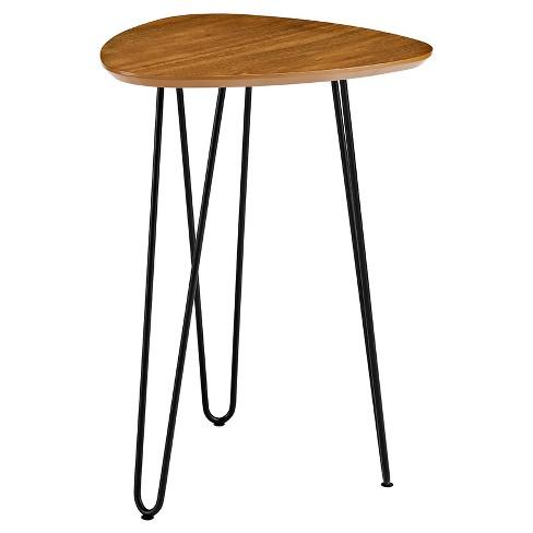 18 hairpin leg wood side table walnut saracina home target 18 hairpin leg wood side table walnut saracina home watchthetrailerfo
