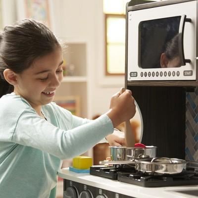 Melissa U0026 Doug® Chefu0027s Kitchen Pretend Play Set   Charcoal : Target