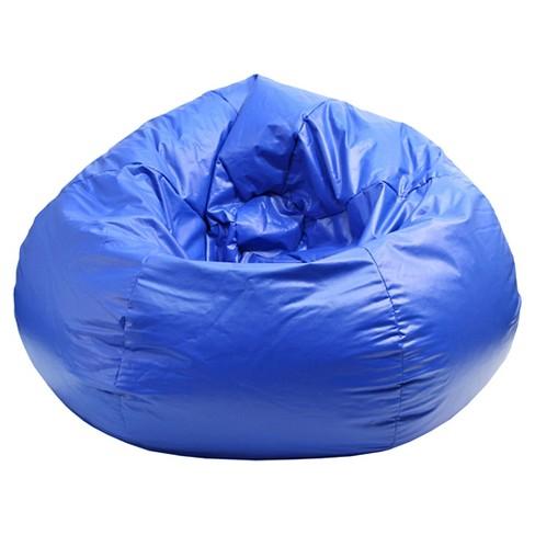 Superb Small Vinyl Bean Bag Chair Blue Gold Medal Bralicious Painted Fabric Chair Ideas Braliciousco