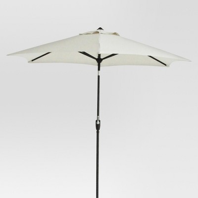 9' Round Patio Umbrella - Linen - Black Pole - Threshold™