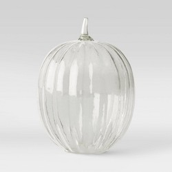Decorative Glass Seeded Pumpkin Figurine - Threshold™