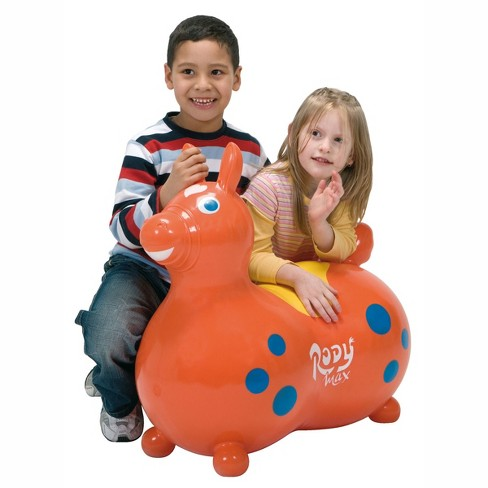 Gymnic Rody Horse Max Baby Toddler Ride On Latex Free Vinyl Bouncing Toy, Red - image 1 of 4