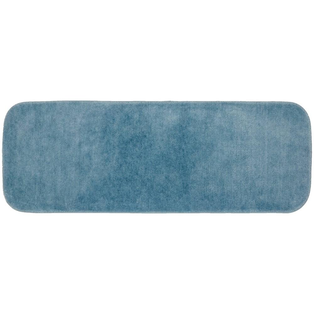 """Image of """"22""""""""x60"""""""" Traditional Plush Washable Nylon Rug Basin Blue - Garland"""""""