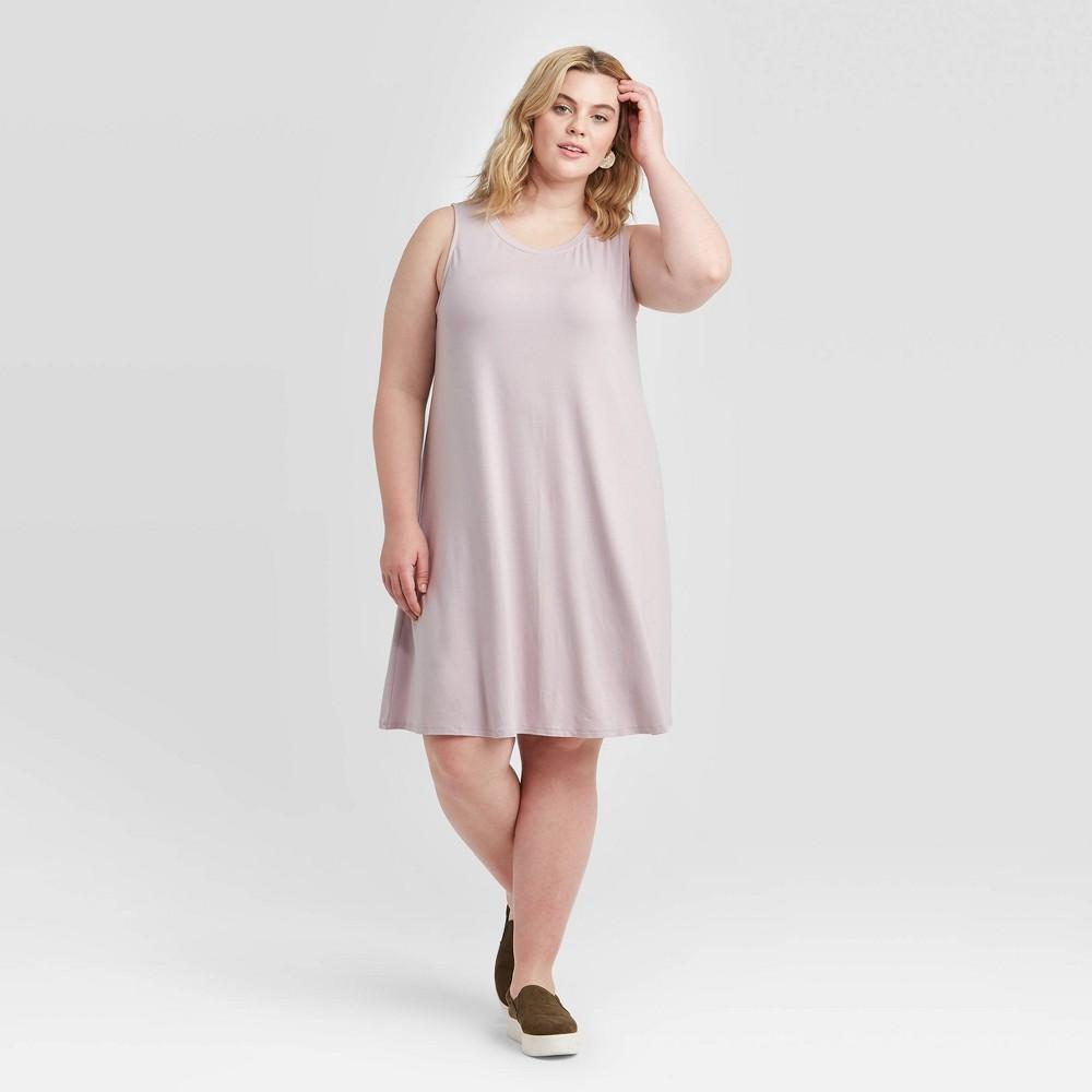 Women's Plus Size Sleeveless Knit Swing Dress - Ava & Viv Lilac 4X, Purple was $15.0 now $10.0 (33.0% off)
