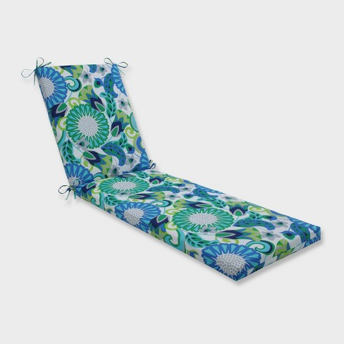 """80"""" x 23"""" x 3"""" Sophia Chaise Lounge Outdoor Cushion Green - Pillow Perfect - image 1 of 2"""