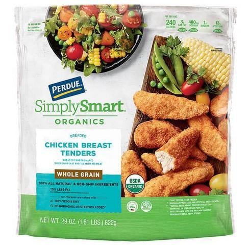Perdue Simply Smart Organic Whole Grain Breaded Chicken Breast Tenders - Frozen - 29oz - image 1 of 3