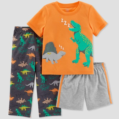 Baby Boys' 3pc Dinosaurs Pajama Set - Just One You® made by carter's Orange 12M