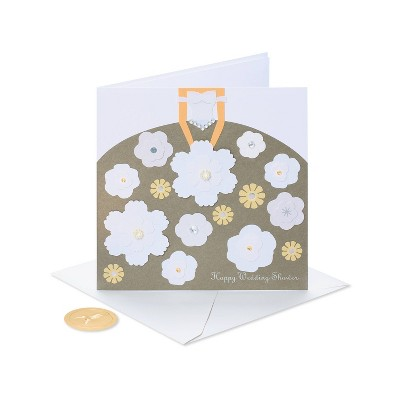 Wedding Shower Card Skirt with Flowers - PAPYRUS