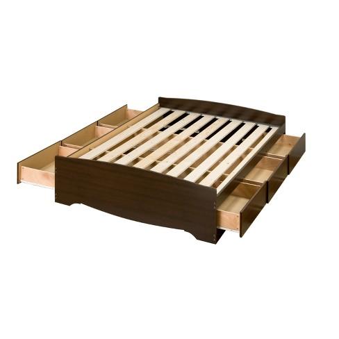 6 Drawer Platform Storage Bed Queen