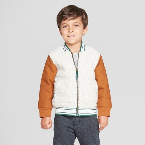 38d03fb43f4c Genuine Kids® From OshKosh Toddler Boys  Sherpa Bomber Jacket With ...