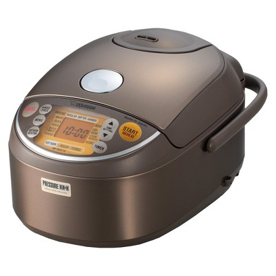 Zojirushi Induction Heating Pressure Rice Cooker & Warmer - Stainless Steel/Brown, 5.5 cup