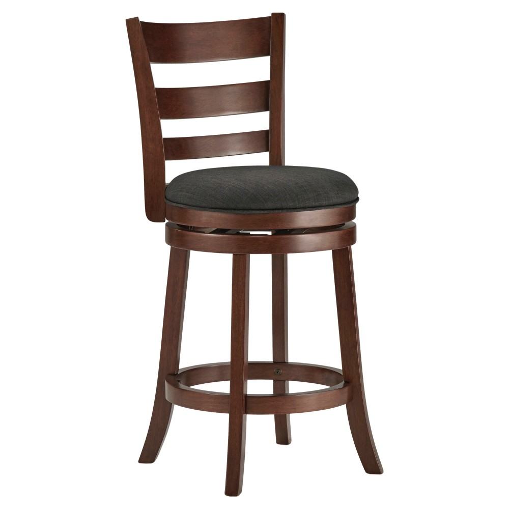 "Image of ""24"""" Hooper Swivel Counter Stool Wood Charcoal Heather - Inspire Q"""