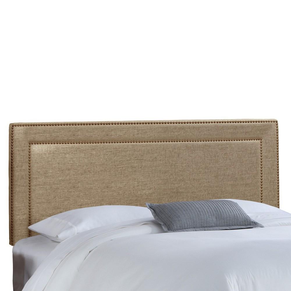 Twin Fremont Nail Button Border Headboard Gunmetal (Grey) - Skyline Furniture