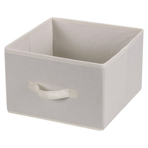 Household Essentials Fabric Cube - Natural Canvas - image 1 of 3