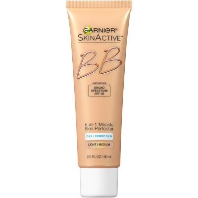 garnier bb cream oily skin light