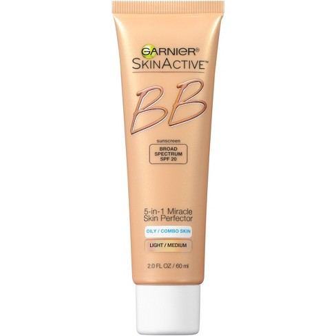 Unscented Garnier SkinActive BB Cream Oil-Free Face Moisturizer Light/Medium - 2 fl oz - image 1 of 4