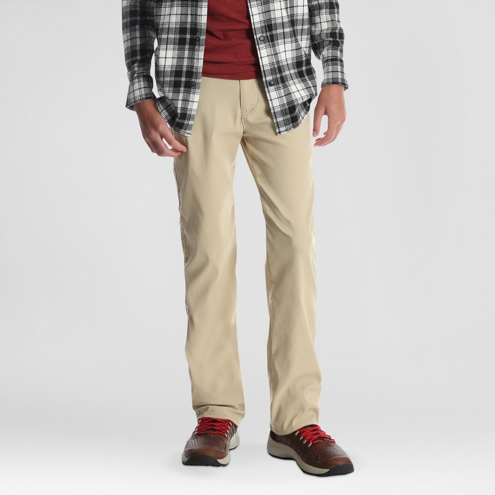 Wrangler Boys' Kingman Straight Outdoor Pants - Beige 16 Husky, Brown