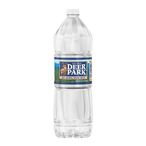 Deer Park Brand 100% Natural Spring Water - 33.8 fl oz Bottle - image 1 of 4