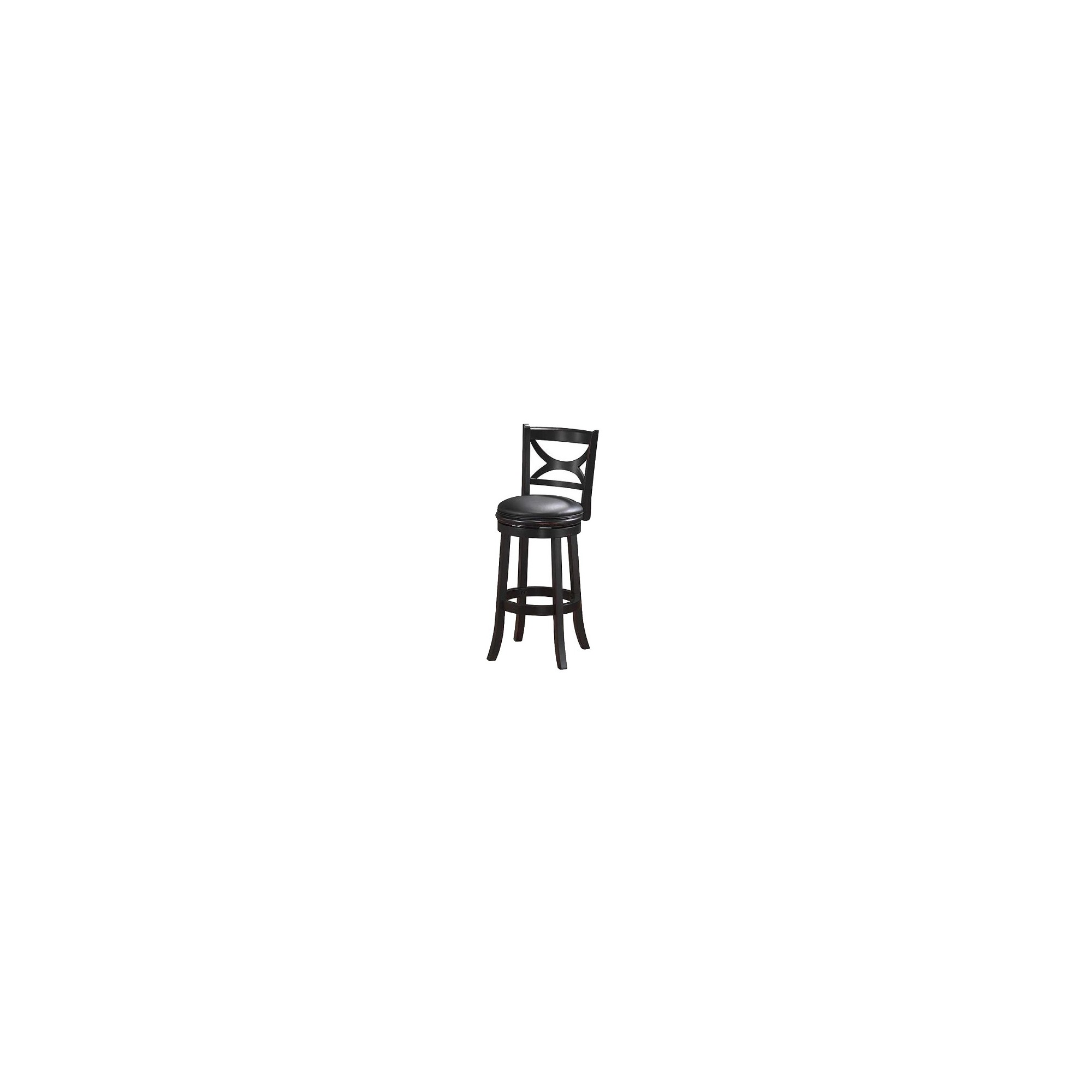 'Boraam Industries Florence Sand Through Swivel 24'' Counter Stool - Black, Size: 24'' Counterstool'