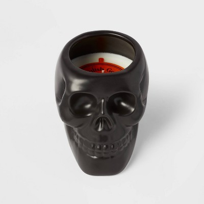 Ceramic Skull Figural Black Candle - Hyde & EEK! Boutique™