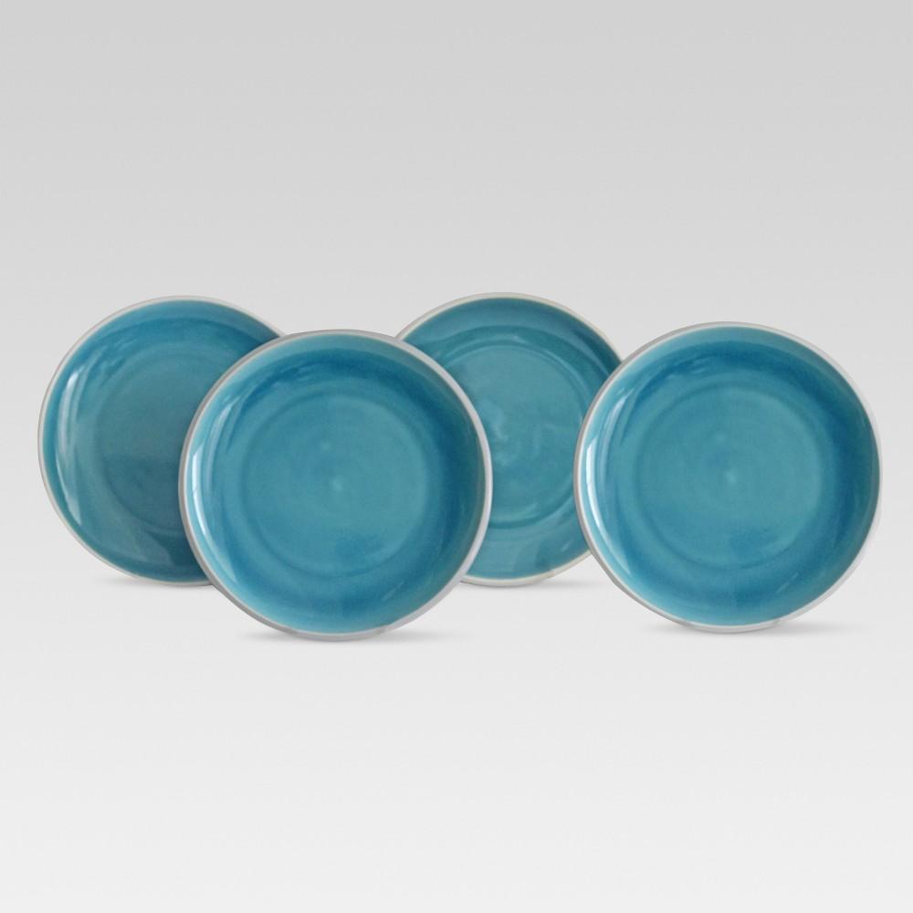 Portel Stoneware Salad Plate 8 Teal - Set of 4 - Project 62, Blue