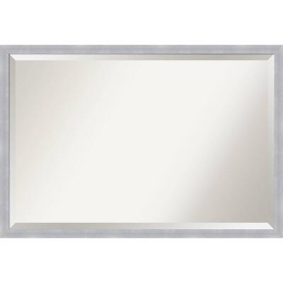 38 X 26 Grace Brushed Framed Bathroom, Nickel Framed Vanity Mirror
