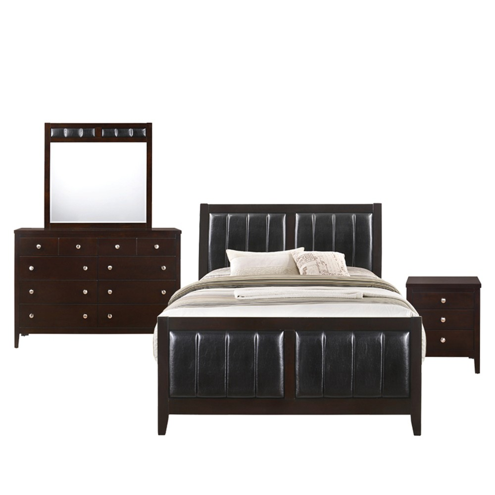 4pc Luke Queen Panel Bedroom Set Espresso - Picket House Furnishings, Brown