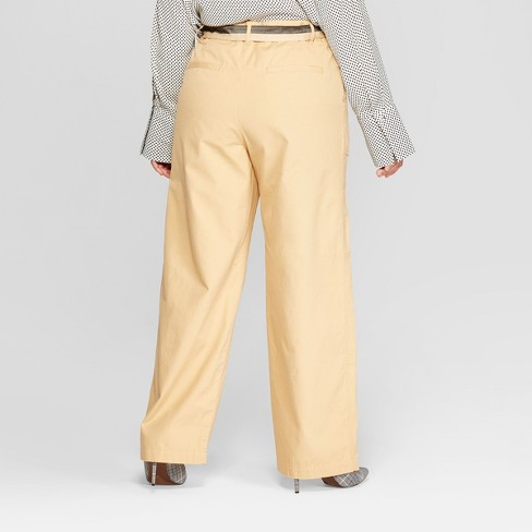 d0f8e7f3c91 Women s Plus Size Duo Front Pocket Straight Wide Leg Cargo Pants - Who What  Wear™ Khaki 18W   Target
