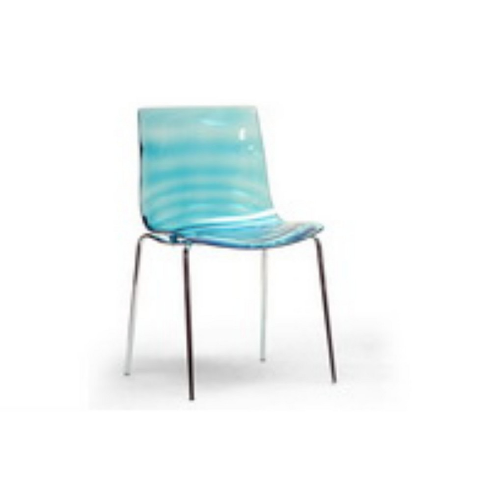 Set of 2 Marisse Plastic Modern Dining Chairs Blue - Baxton Studio