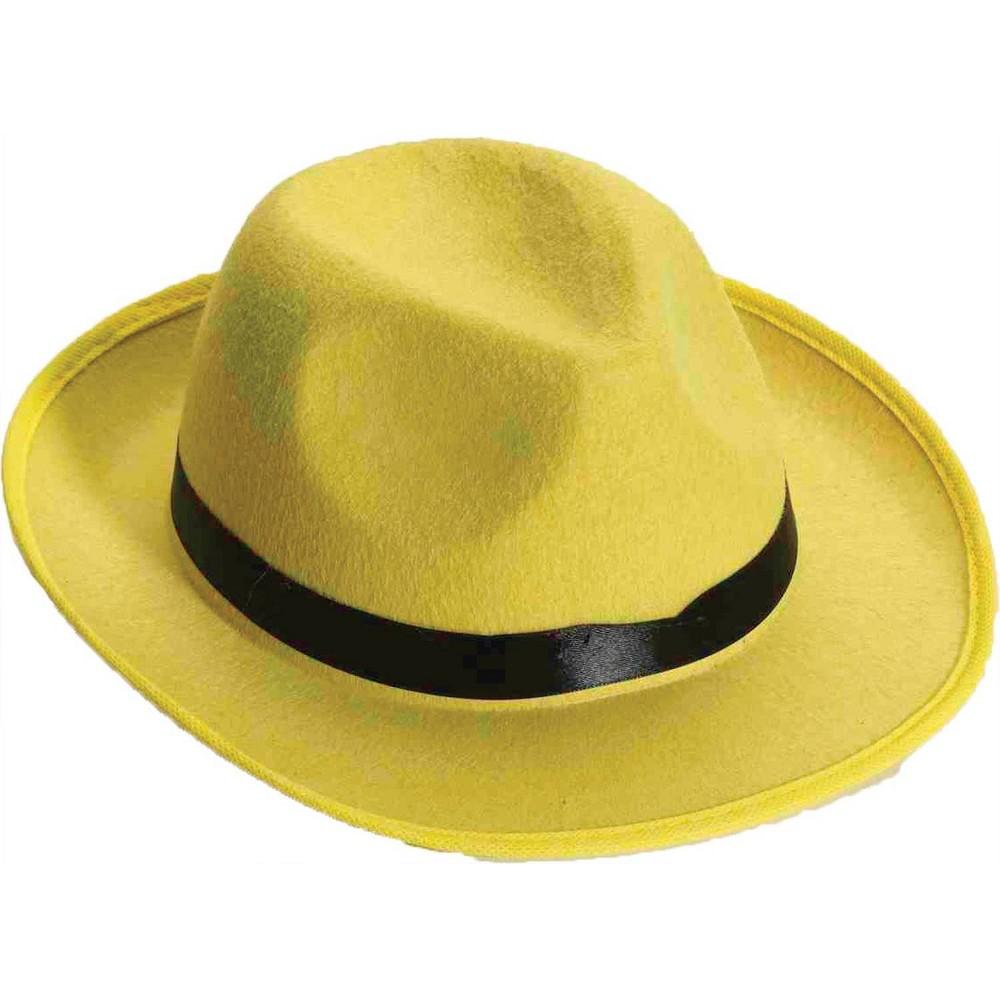 Image of Adult Hat Fedora Yellow, Adult Unisex