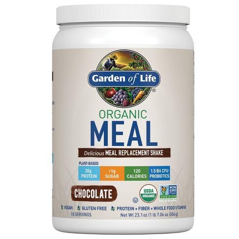 Garden Of Life Organic Vegan Meal Replacement Shake Mix Chocolate 23 1oz