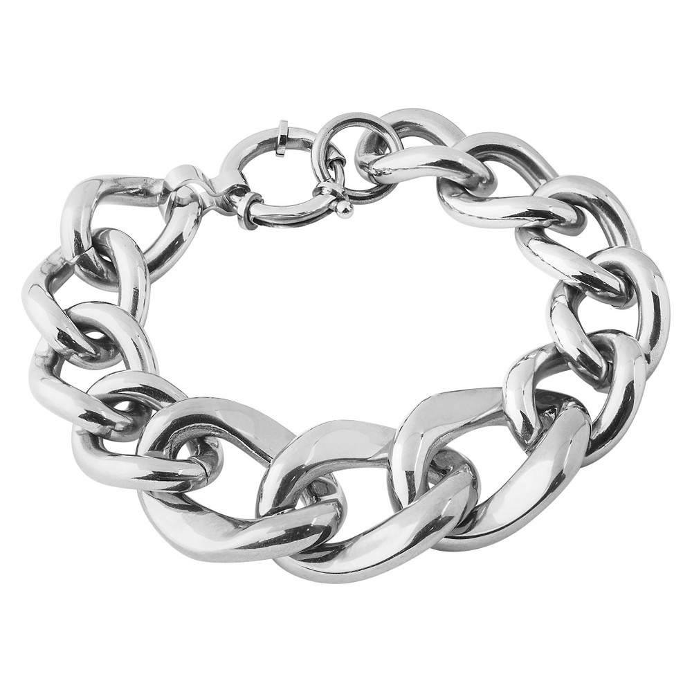 Image of West Coast Jewelry Stainless Steel Curb Link Chain Bracelet, Women's, Silver