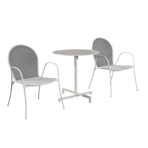 Carmack 3pc Metal Mesh Patio Bistro Set Silver Room Essentials Target