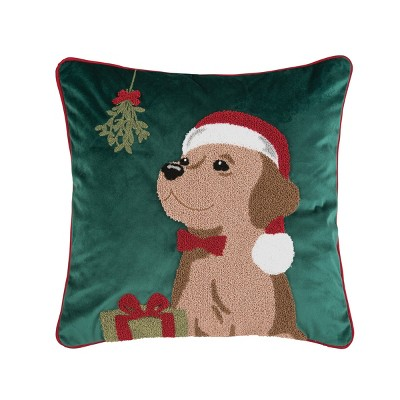 "C&F Home 18"" x 18"" Mistletoe Puppy Pillow"