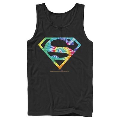 Men's Superman Tie-Dye Shield Logo Tank Top
