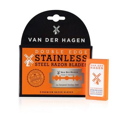 Van Der Hagen Double Edge Steel Razor Blades - 5ct