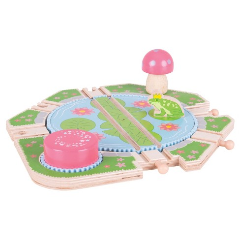 Bigjigs Rail Lilypad Turntable Wooden Railway Train Set Accessory - image 1 of 2