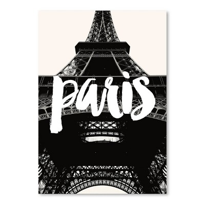 Americanflat Paris Eiffel Tower Black White by Amy Brinkman Poster